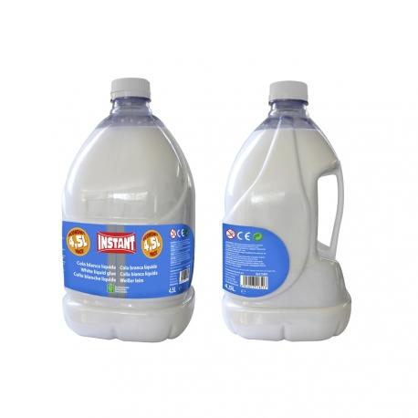 Colle blanche liquide - Bidon de 4,5 L - GRAND FORMAT - Spécial SLIME ou Professionnels - INSTANT