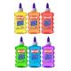 Lot de 6 Colles Transparentes 180ml - Instant - Assortiment 6 couleurs - Loisirs Créatifs - 14691