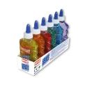 Lot de 6 Colles transparente couleur 180ml - 6 couleurs assorties - Loisirs créatifs - SLIME - INSTANT