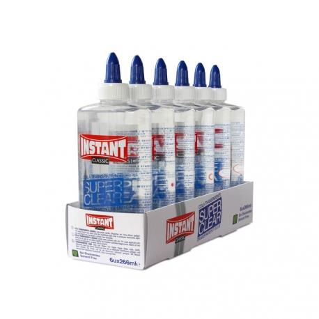 Lot de 6 Colles Liquide Transparente 266ml - Instant - Superclear 266ml - 11141
