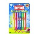 Tubes de colle Pailletées Fluo pour enfant - en forme de stylo - 6x 10.5 ml Coloris Assortis - INSTANT