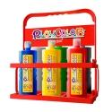 Lot de 6 Peinture gouache liquide BASIC 1000ml avec casier de rangement - PLAYCOLOR