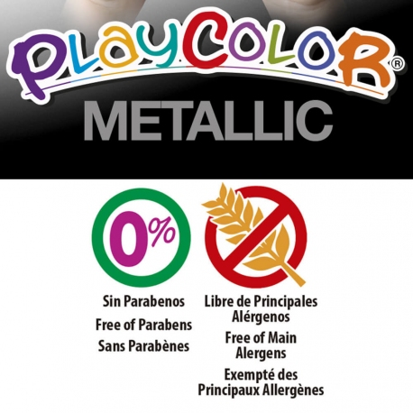 Stylos de Peinture Gouache Solide 5g - Pack Pocket One (Basic+Metal+Fluo) - 24 couleurs assorties - Playcolor - 02051