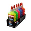 Lot de 6 Colles GLITTER NEON 180ml - 6 couleurs assorties - Loisirs créatifs ou Slime - INSTANT