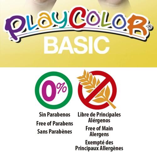 BASIC ONE - Stick de peinture gouache solide 10 g - 12 couleurs assorties - PLAYCOLOR