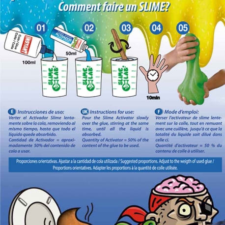 Mini kit pour fabriquer son Slime NEON - INSTANT
