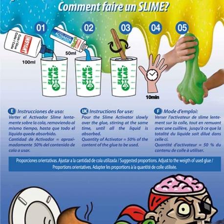 Mini kit pour fabriquer son Slime Colle Blanche Couleur - INSTANT
