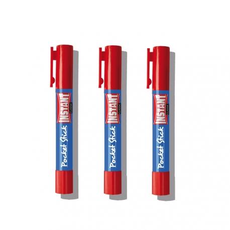 Lot de 3 batons de colle Pocket Classic 5g - s'utilise comme un stylo - collage de précision - INSTANT