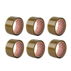 Lot de 6 Rubans Adhésifs d'Emballage Transparent Seal Larg. 50mm x 66m - Instant - 63201-B