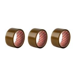 Lot de 3 Rubans adhésifs d'emballage Brun de 50 mm x 66 m - INSTANT