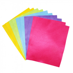 Coupons Feutrine Néon 180G/M2 - 24x30cm - 2x5 couleurs assorties