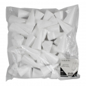 Lot de 50 Cônes en Polystyrène Blanc à Personnaliser - 11 x 5,5 cm