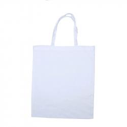 Grand Sac Shopping en Coton 100G/M2 à Personnaliser - 37x42cm - Coloris Blanc