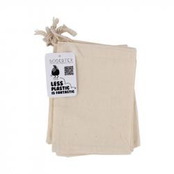 Pochon 100% coton 150g/m² - 11 x 15 cm - coloris écru