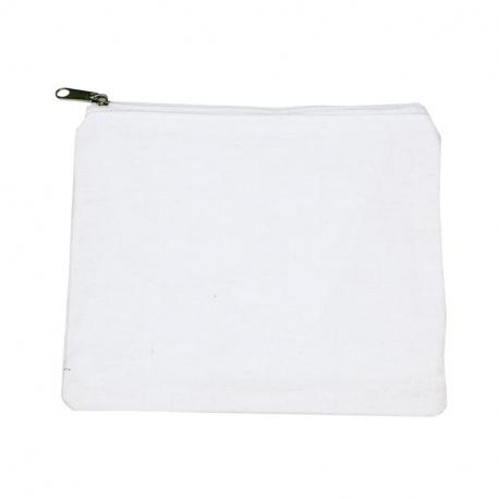 Lot de 6 Trousses à Maquillage à Décorer - 100% coton - 170g/m² - Revêtement Intérieur Nylon - 18x14cm - Coloris blanc