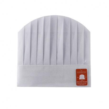 Toque de Cuisinier à Décorer en Polyester - Tour de Tête 55cm - Coloris Blanc