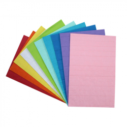 Coupons Papiers de Soie Nid d'Abeille 20G/M2 - 28x17,5cm - 10 couleurs assorties