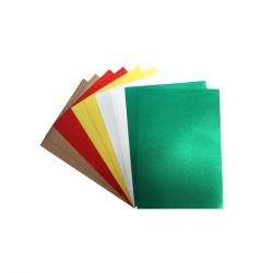 Coupons Mousse EVA Métallique - 21x29,7cm - 10 pièces et 5 couleurs assorties