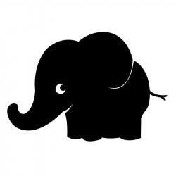 Sticker Ardoise Adhésifs - Elephanto - 135 microns - 80x55cm - Noir