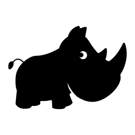 Sticker Ardoise Adhésifs - Rhinocero - 135 microns - 80x56cm - Noir