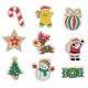 Pack de 9 Aimants en Bois à Colorier - 4x6cm - Thème Noël - Coloris Naturel
