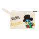 Porte-Monnaie en Coton 100G/M2 - 11.5x9cm - Coloris Ecru