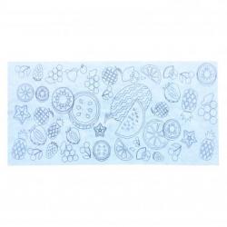 Nappe de Table Blanche impressions noires à Colorier en Polypropylène - Thème Smoothie