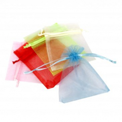 Lot de 10 Sachets en Orgenza - 10x8cm - Assortiment de 5 Couleurs