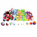 Lot de 200 Pompons Tricolores en Polypropylène - 3 tailles - Assortiment de 10 choix Tricolores
