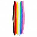 Lot de 10 Chenilles Colorées - Diamètre 6mm - Longueur 30cm - Assortiment de 10 Couleurs