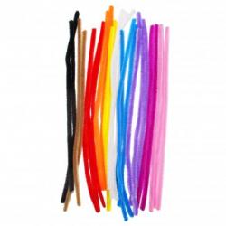 Lot de 10 Chenilles Colorées - Diamètre 8mm - Longueur 30cm - 25 brins - Assortiment de 10 Couleurs