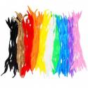 Lot de 10 Chenilles Spirale Colorées - Diamètre 6mm - Longueur 30cm - 100 brins - Assortiment de 10 Couleurs