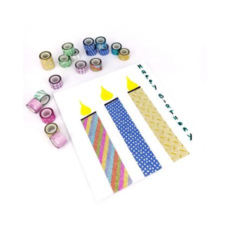 Maxi Pack de 100 Mini Rubans Adhésifs Repositionnables - Largeur 11,6mm - Longueur 1m - Thème : La Bonbonnière Abracadabrante
