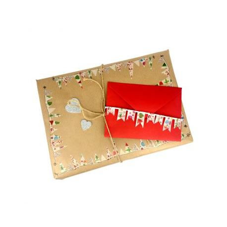Pack de 6 Mini Rubans Adhésifs Repositionnables - Largeur 15mm - Longueur 10m - Thème : Nöel