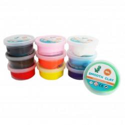 Pack de 10 Pots de Pâte à Modeler Autodurcissante 40g - Assortiment de 10 Couleurs