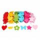 4 Lots de 30 Fleurs/Cœurs/Etoiles/Papillons en Feutrine de 3mm - Diamètre 4cm - Assortiment de 6 Couleurs