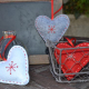 Lot de 10 Kits 3 Coeurs en Feutrine 2mm à Coudre - Diamètre 8cm - Assortiment de 3 Coloris