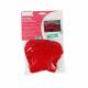 Kit 12 Etoiles et 12 Coeurs en Feutrine 2mm à Coudre - Diamètre 13cm - Coloris Rouge