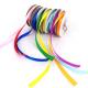 Lot de 8 Rubans Satin Colorés - Largeur 6mm - Longueur 10m - Assortiment de 8 couleurs