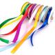 Lot de 8 Rubans Satin Colorés - Largeur 9mm - Longueur 10m - Assortiment de 8 couleurs