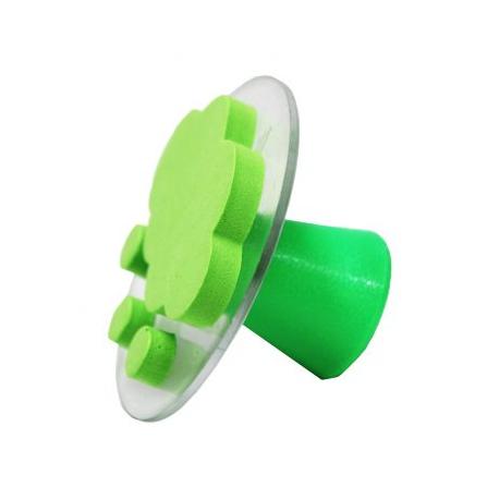 Valisette de 10 Tampons en Mousse Double Densité avec Poignée - Diamètre 7,5cm - Thème Quel Temps Fait-Il