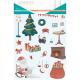 Pack de 240 Gommettes en Papier Pailleté de 2 à 4cm - 12 Planches 17x22cm - Thème Noël