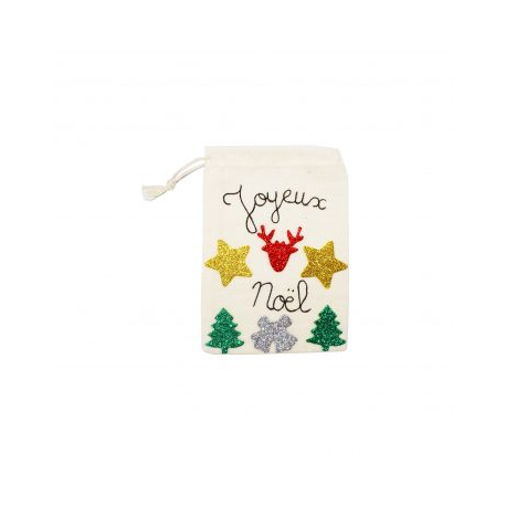 Pack de 200 Stickers en Mousse EVA Pailletée 2mm - Thème Noël - Assortiment de 4 Couleurs