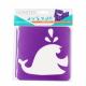 Pack de 6 Pochoirs en Plastique Incassable 5mm - Thème A La Mer - Dim 14x14cm - Coloris Violet