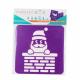 Pack de 6 Pochoirs en Plastique Incassable 5mm - Thème Vive Le Vent - Dim 14x14cm - Coloris Violet