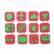 Pack de 12 Mini Tampons en Mousse EVA - Diamètre 3/4cm - Thème A L'Aventure