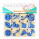 Pack de 12 Mini Tampons en Mousse EVA - Diamètre 3/4cm - Thème Le Petit Gymnsate