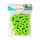 Pack de 36 Eponges Tampons à peindre 25mm - Coloris Vert - Thème Chiffres et Lettres