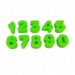 Pack de 10 Eponges Tampons à peindre 25mm - Coloris Vert - Thème Chiffres