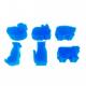 Pack de 6 Eponges Tampons à peindre 25mm - Coloris Vert - Thème Animaux de La Ferme